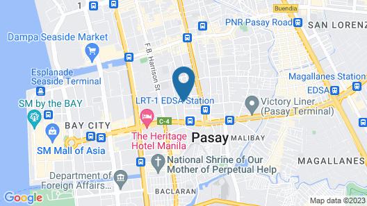 Selah Garden Hotel Manila Map