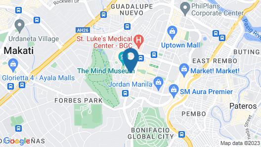 Ascott Bonifacio Global City Manila Map