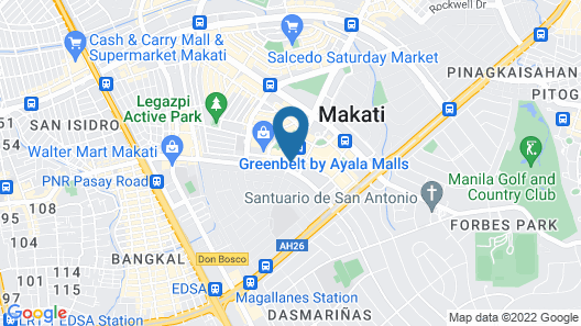Fairmont Makati, Manila Map