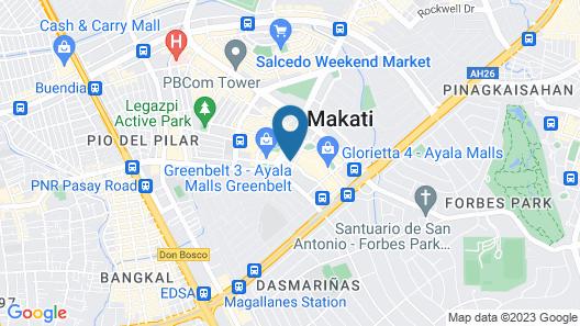 Raffles Makati Map