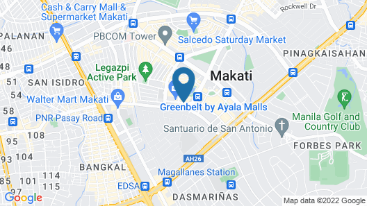 New World Makati Hotel Map