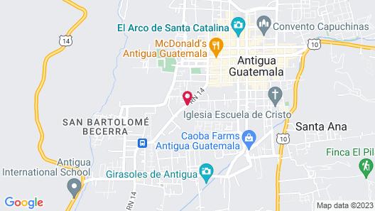 Hotel Soleil La Antigua Map
