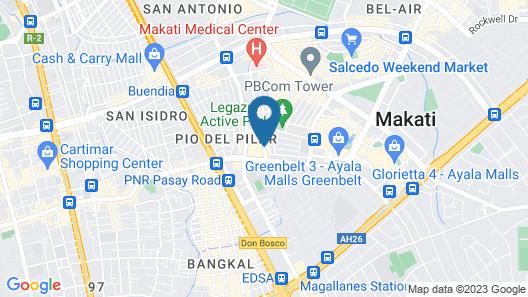 Gervasia Hotel Makati Map