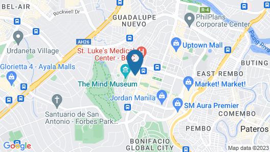 Shangri-La The Fort, Manila Map