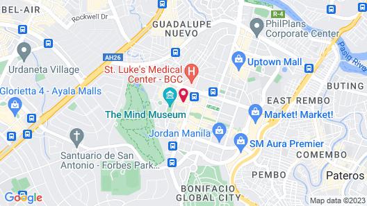 Shangri-La at the Fort, Manila Map