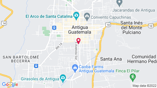 Porta Hotel Antigua Map