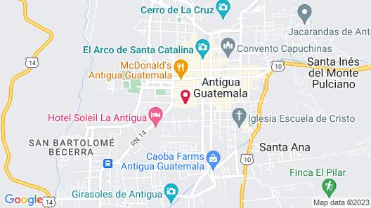 Hotel Camino Real Antigua Map