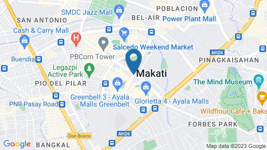 Makati Shangri-la Hotel, Manila Map