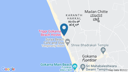 Trippr Gokarna - Backpacker Hostel Map