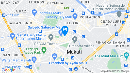 The Picasso Boutique Serviced Residences Map