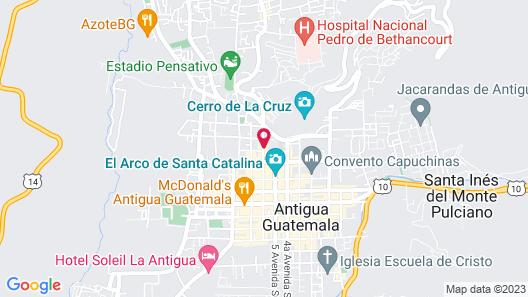 Selina Antigua Map
