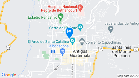 Selina Antigua Map