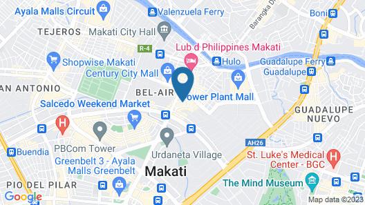 Makati Palace Hotel Map