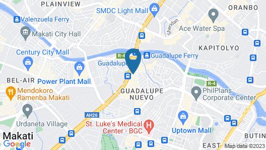 Vista Apartelle & Restaurant Map