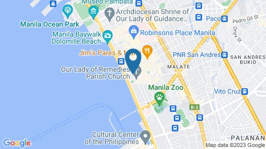 Hop Inn Hotel Ermita Manila Map