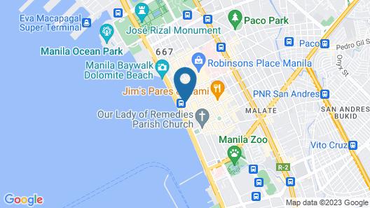 Diamond Hotel Philippines Map