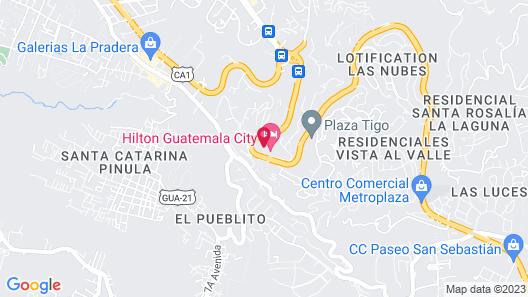 Hilton Guatemala City Map