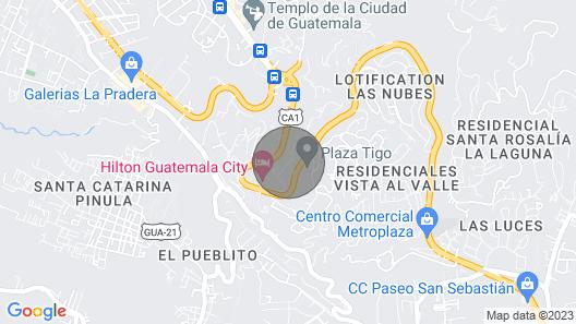 Apartment Vista Real zone 15 Guatemala Map