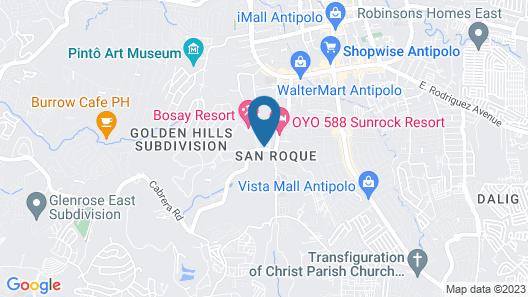OYO 588 Sunrock Resort Map