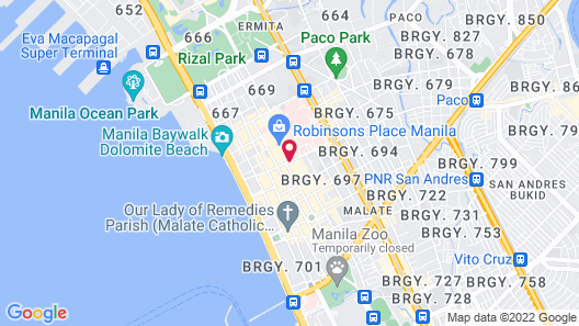 Manila Condo Home at Robinsons Place Residences Map