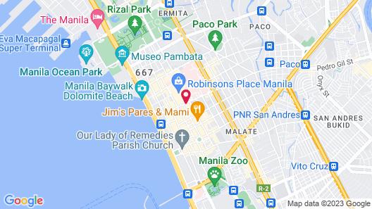 Eurotel Pedro Gil Map
