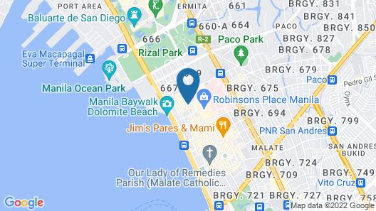 RedDoorz Plus near Robinsons Place Manila Map
