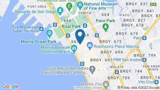 Manila Lotus Hotel  Map