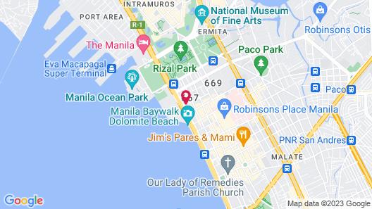Red Planet Manila Bay Map