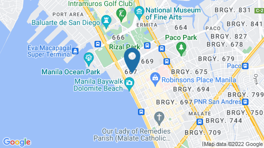Best Western Hotel La Corona Manila Map