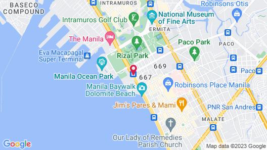 Bayview Park Hotel Manila Map