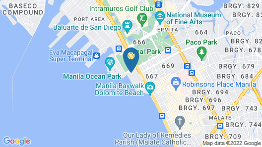 Rizal Park Hotel Map