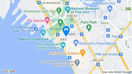 City Garden Suites Manila Map