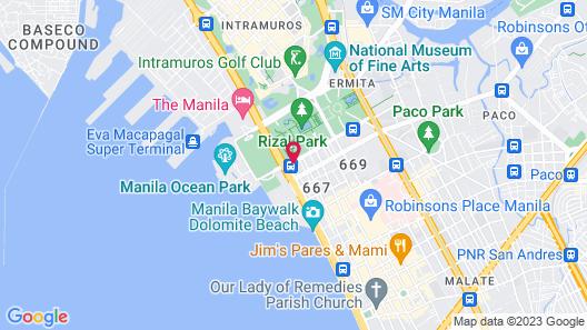 Luneta Hotel Map