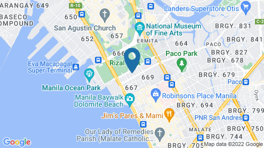 Mabini Mansion Hotel Map