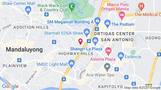 Crossroads Hostel Manila Map