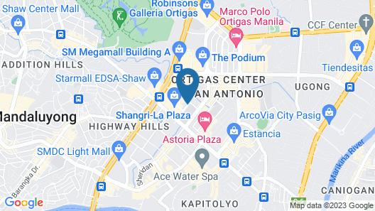 Edsa Shangri-La, Manila Map