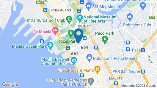 Casa Bocobo Hotel Map
