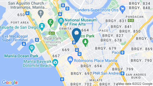 The Pearl Manila Hotel Map