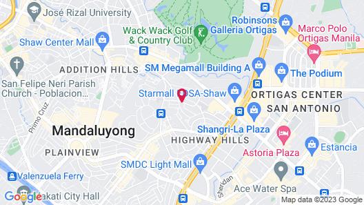 RedDoorz @ Samat Mandaluyong Map