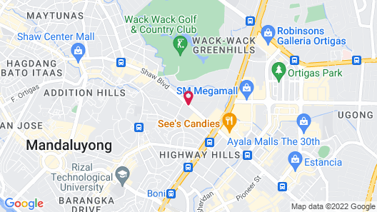 Lancaster Hotel Manila Map