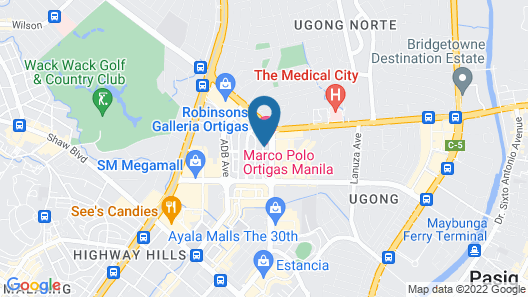 Marco Polo Ortigas Manila Map