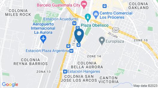 Hotel Las Americas Map