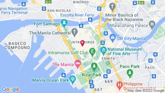 White Knight Hotel Intramuros Map