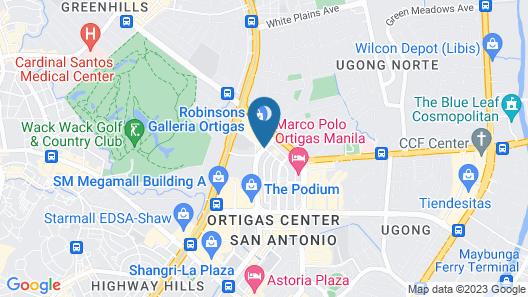 Citadines Millennium Ortigas Manila Map