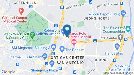 Crowne Plaza Manila Galleria, an IHG Hotel Map
