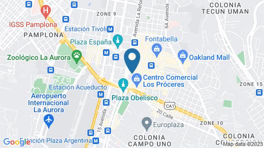 Hotel Biltmore Guatemala Map