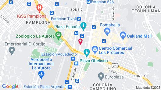 Barceló Guatemala City Map