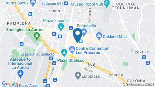 Clarion Suites Guatemala City Map