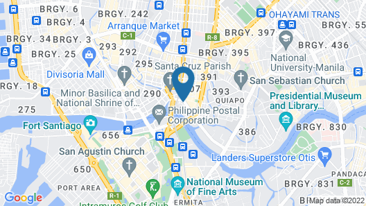 Citystate Hotel Palanca Map