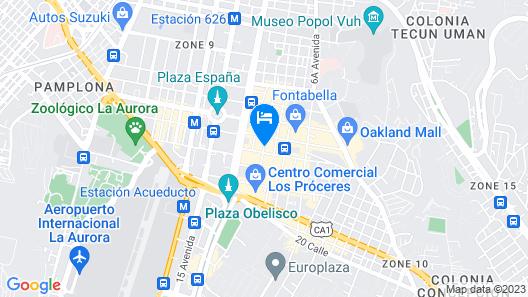 Real InterContinental Guatemala Map